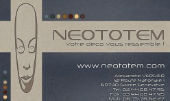 Réalisation carte de visite pour Neototem