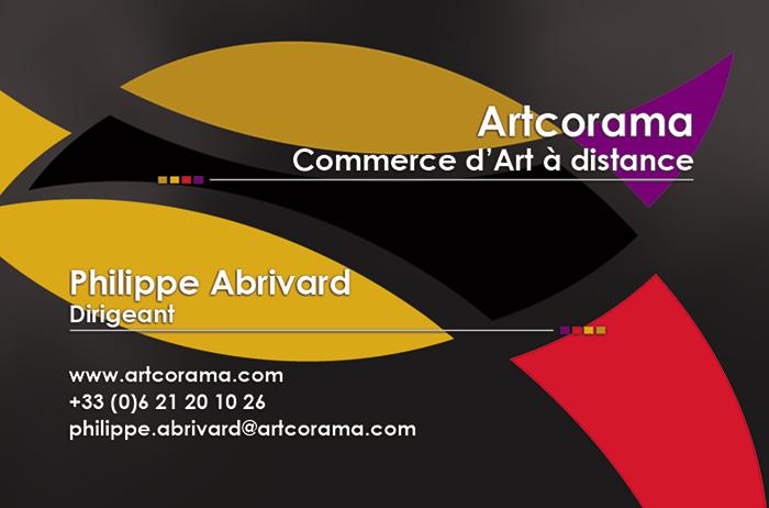 Création Verso carte de visite Artcorama