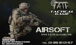 Création carte de visite Boutique d'Airsoft sur Paris Tactical Game