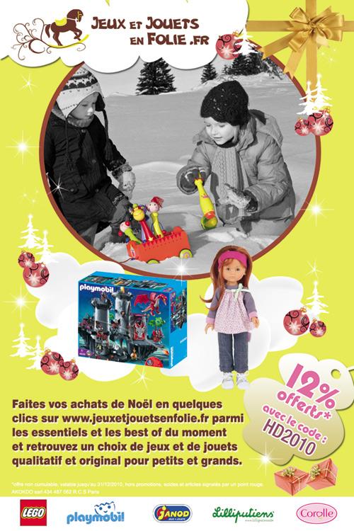 Agence Design graphique Toulouse Flyer Jouets en Folie, graphisme Print et PAO, graphisme photoshop, création illustrator vectorielle