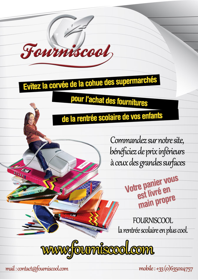 Création Flyer fourniscool format A5