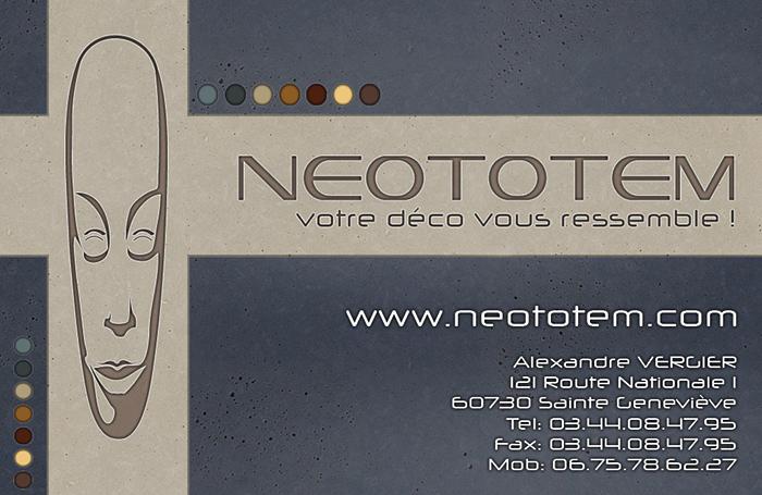 création carte de visite, charte graphique et identité visuelle - Déco d'intérieur Neototem