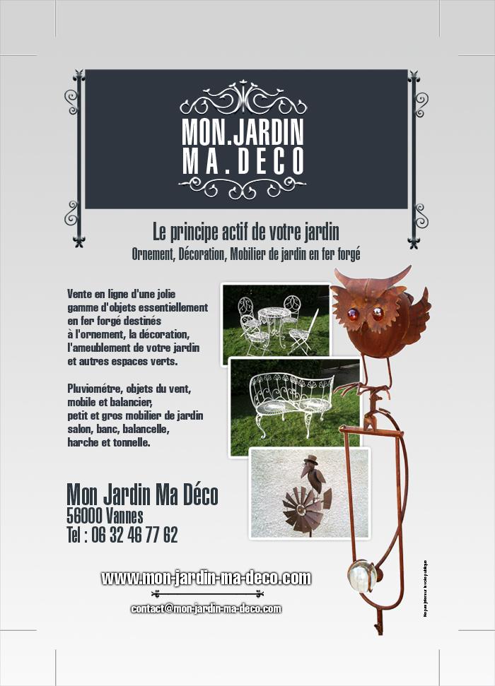 Création flyer format 10×15 Mon jardin ma deco