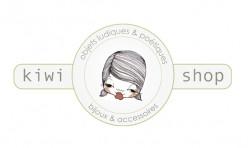 Création du logo Kiwi Shop, Illustration : Laurence Baron