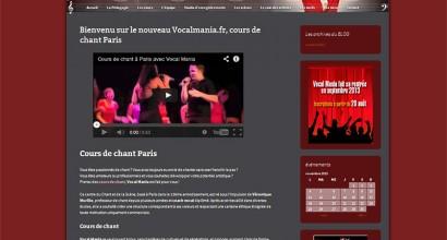 Site vitrine ecole de chant Vocalmania