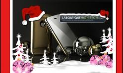 Carte de voeux papier La Boutique Hight-Tech
