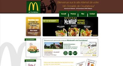 Site vitrine Prestashop MC Donalds de Courtaboeuf