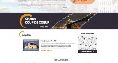 Création site internet toulouse agence de voyage Nouvelles Vagues