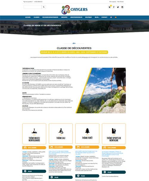 refonte site internet oxygers hautes pyrenees- charte graphique digitale