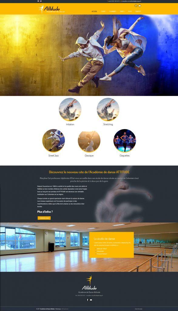 Création site internet école de danse de l'Académie de Danse Atittude Colomiers