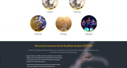 Création site internet Académie de danse Atittude colomiers 31
