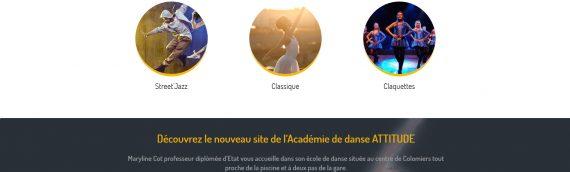 Création charte graphique et site internet Académie de danse Atittude Colomiers 31