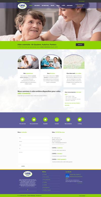 Refonte du site internet sous WordPress de CAPAD Services, aide à domicile en Ariège et Haute Garonne