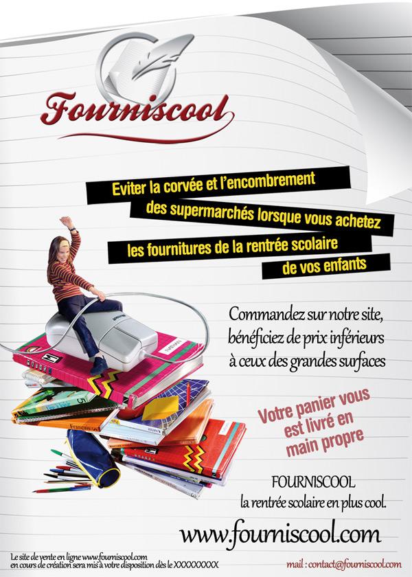 graphisme Flyer Fourniscool A5, retouche photo et composition graphique, studio graphique toulouse, communication print