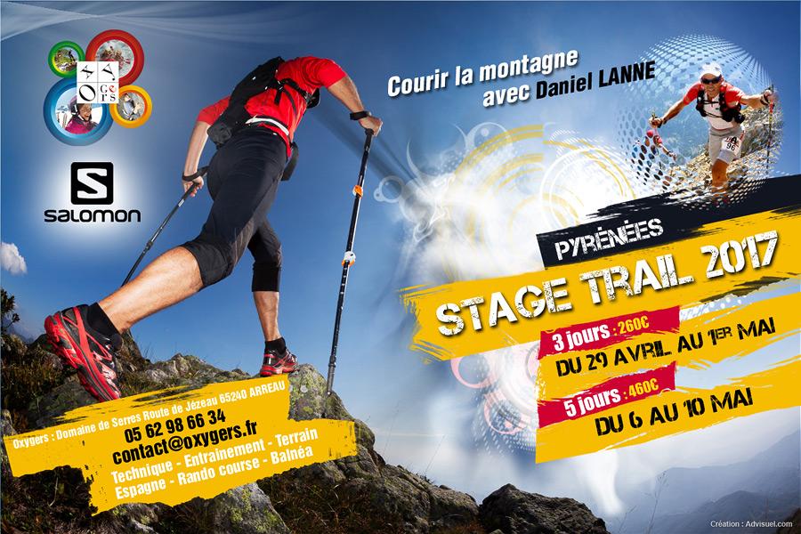 Réalisation d'affiches publicitaires agence de communication toulouse, creation graphique photoshop CS, publicités évènementielle sportive montagne - Oxygers centre de vacances Pyrénées