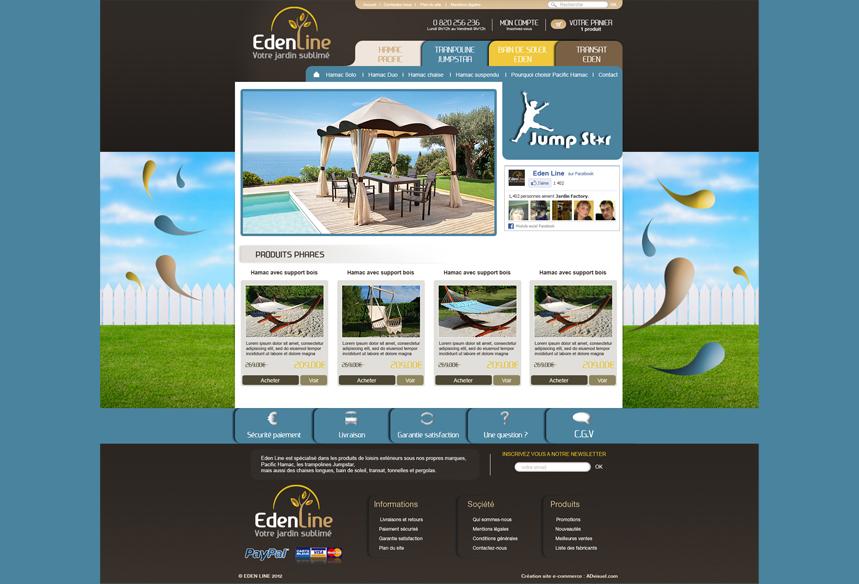 personnalisation sur mesure boutique prestashop edenline, webdesigner prestashop, création site prestashop