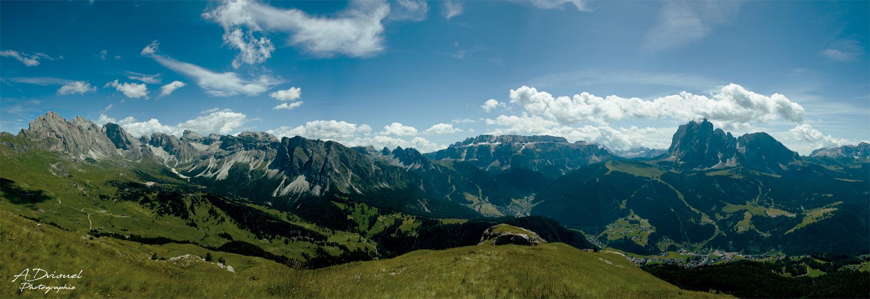 Photo panoramique montagne italie, photographie et retouche photo