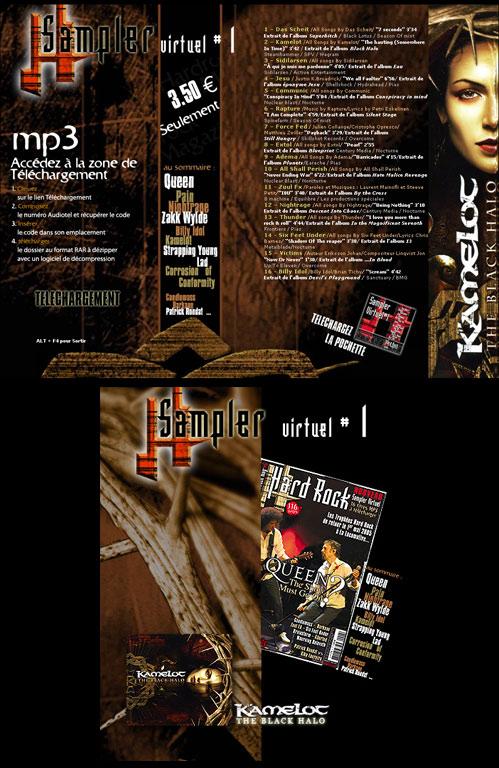 Réalisation landing page web design, création graphique et composition photoshop - Sampler virtuel Hard Rock Magazine Paris