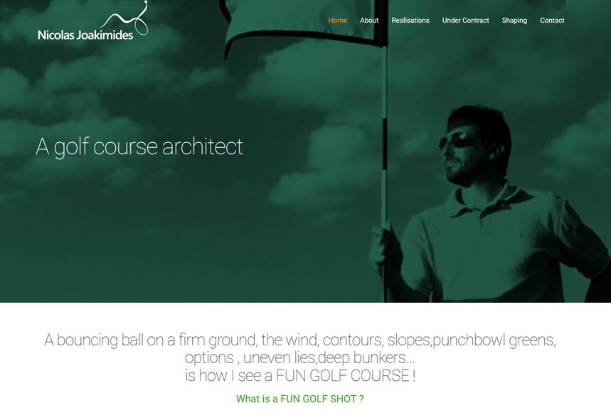 Agence toulouse site internet one page wordpress, nicolas joakimides golf architect Paris