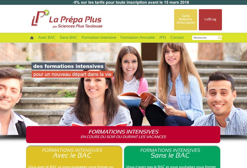 site vitrine prestashop pour école de prépa medecine à toulouse, design template prestashop et design web, webdesigner site vitrine