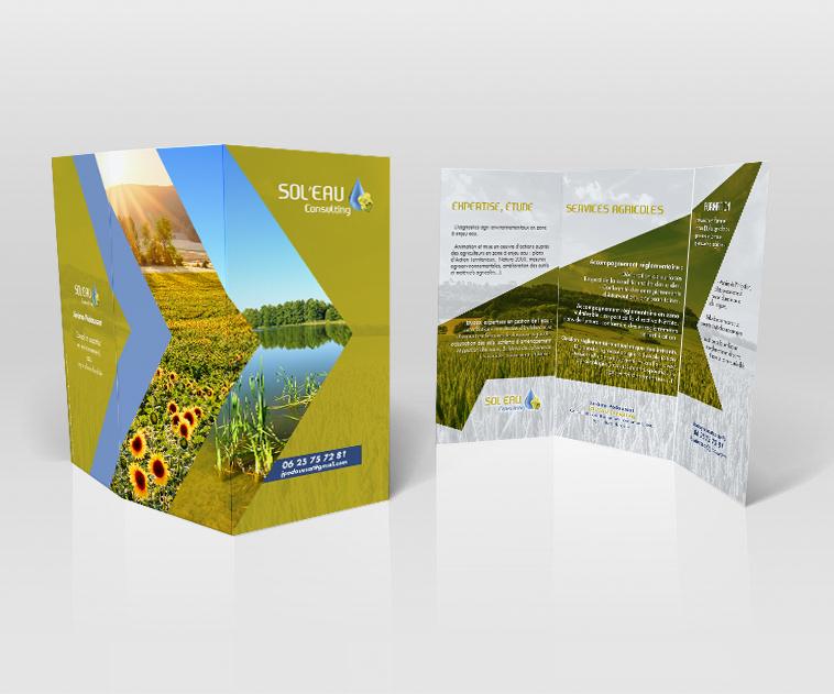 création triptik, flyer, affiche, consultant agronome