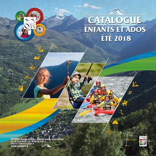 brochure catalogue séjours et colonies de vacances été 2018, création brochure et catalogue voyage et séjours montagne et nature