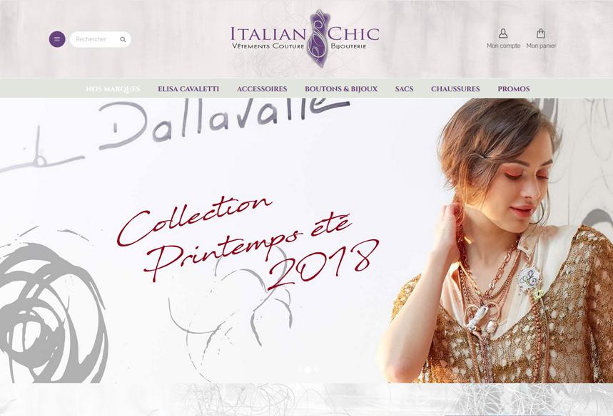 site e-commerce ventes en ligne prêt à porter vêtements italian-chic