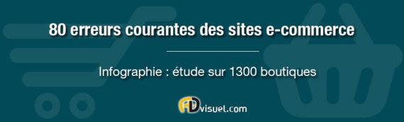80 erreurs courantes des sites e-commerce : infographie
