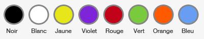 les couleurs préféré des français