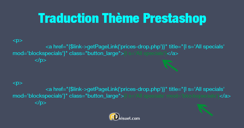 theme prestashop traduction : TUTO Prestashop code smarty