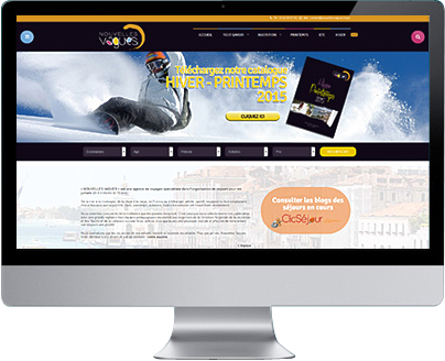 ecran slide Advisuel créateur web toulouse