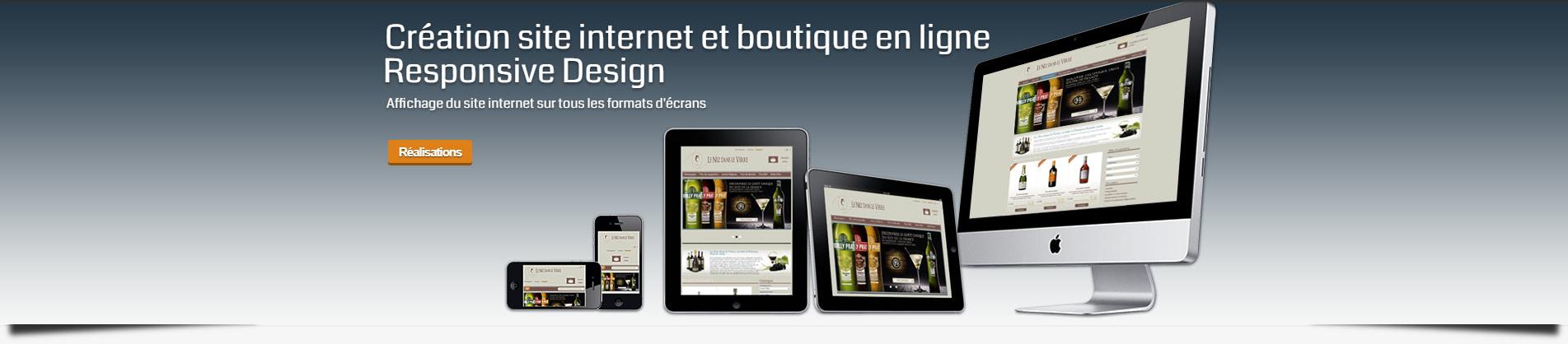 site web responsive design et boutique en ligne