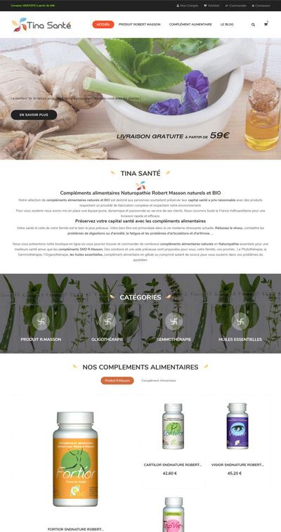 creation site ecommerce toulouse tinasante