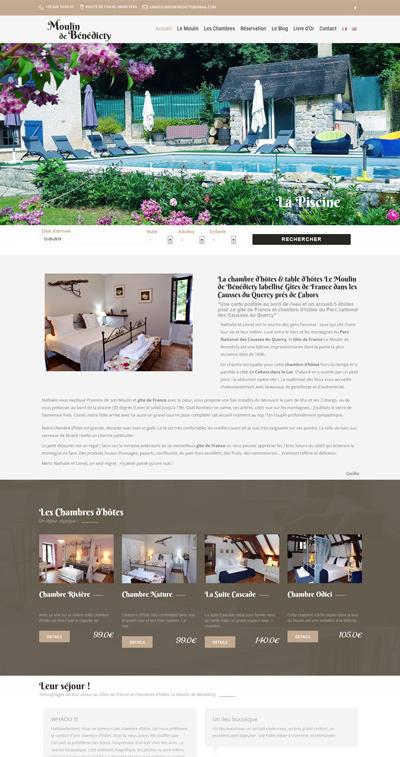 creation site internet toulouse Le moulin de benedicty