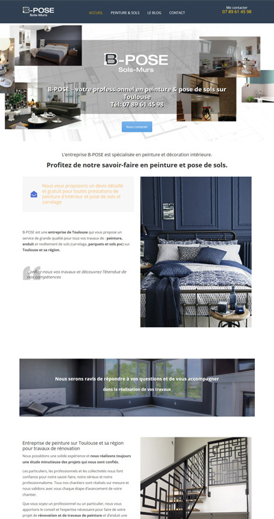 creation site internet toulouse b pose