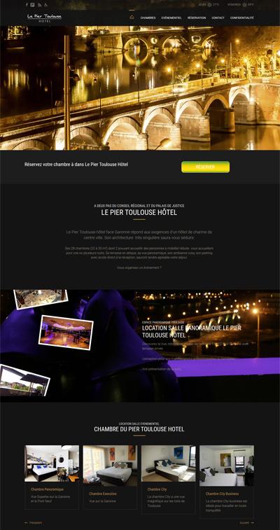 creation site internet toulouse hotel le pier