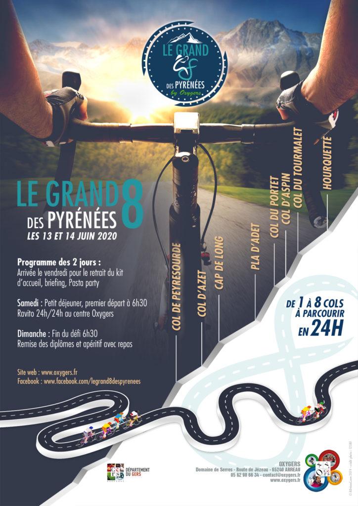 création affiche le grand 8 des Pyrénées