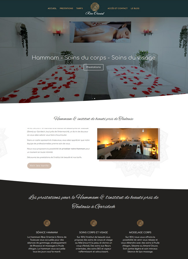creation site internet toulouse reve oriental