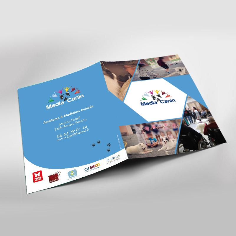 communication visuelle creation depliant plaquette et brochures commerciales