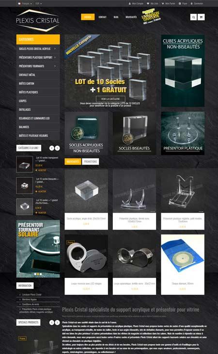 boutique en ligne ecommerce plexis cristal