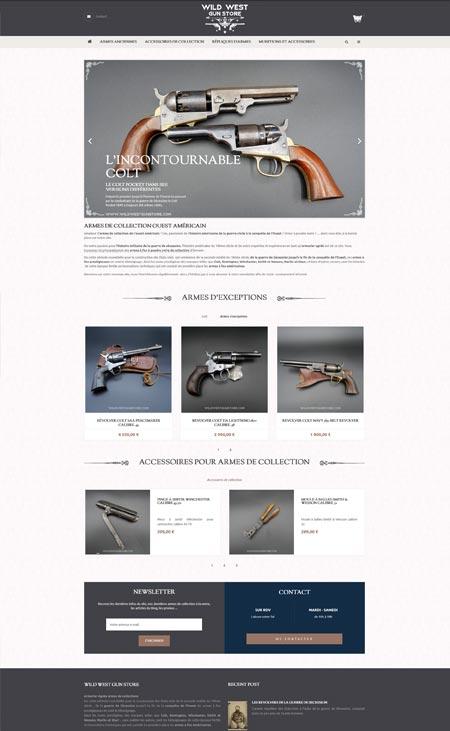 site ecommerce prestashop wild west gun store Paris