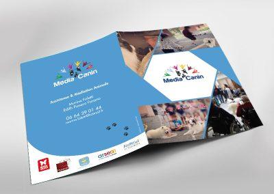 brochure commerciale depliant 2 volets creation Advisuel
