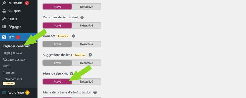 comment créer sitemap plugin yoast wordpress
