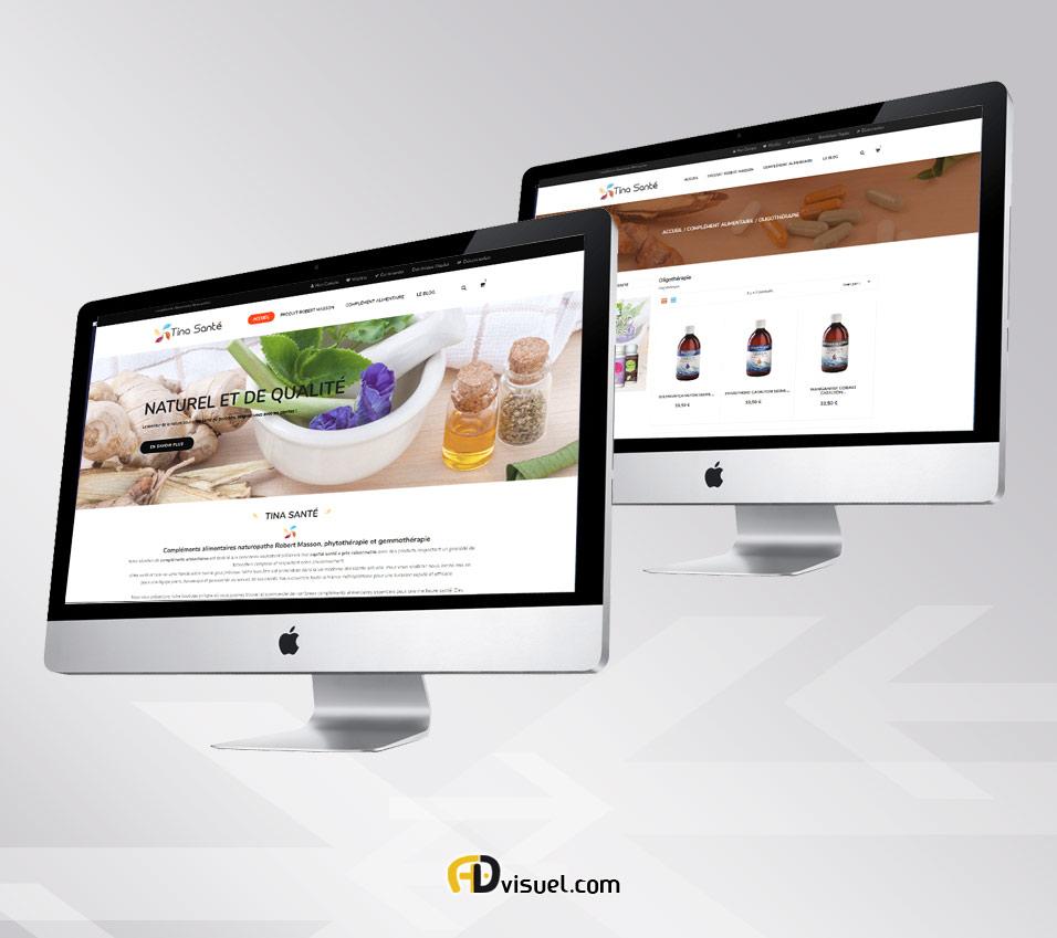 Web designer en création site e-commerce